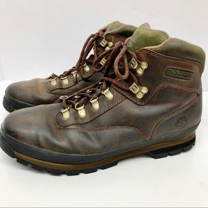 Timberland Mens Brown Euro Hiker Leather Boots S12